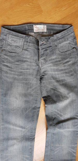 Lage taille broek grijs