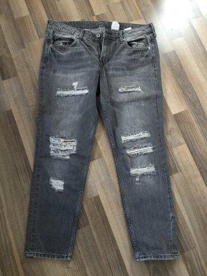 Graue Jeans im Girlfriend-Style, Ge. 40