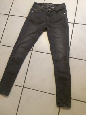 Only Pantalon cigarette gris coton