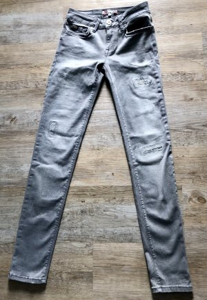 Graue Jeans slim von Breave Gr. 26