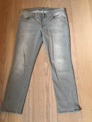 7 For All Mankind Vaquero pitillo gris claro-gris Algodón