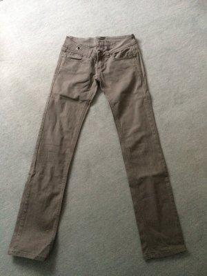 graue Jeans von Catch One - Gr. 36/26, grau / taupe mit weißen leichten Streifen,