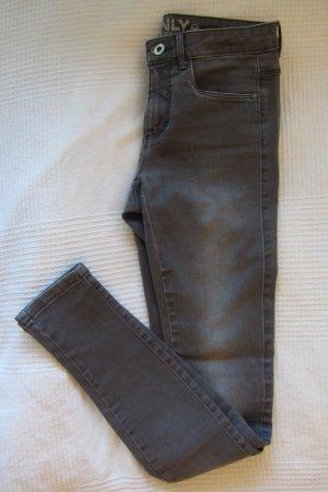 Only Skinny jeans donkergrijs-grijs