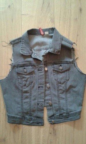 Graue Jeans Weste von H&M