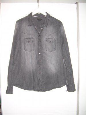 graue Jeansbluse Jeanshemd von Amisu Gr. XL 42