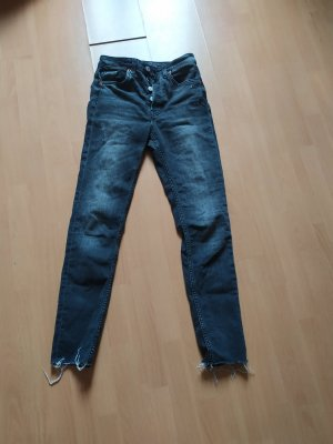 H&M Hoge taille broek donkergrijs
