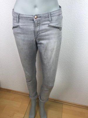 H&M Jeans cigarette gris clair-gris