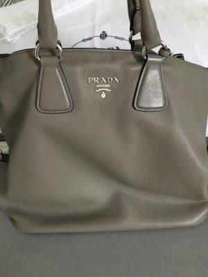 Graue Kalbsleder Prada Handtasche mit Zerrifikat