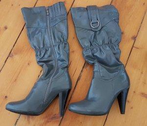 Laarzen met hak grijs-donkergrijs