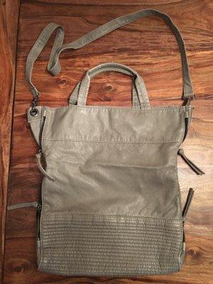 graue Kunstledertasche von H&M