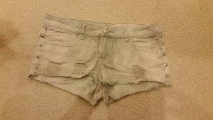 graue kurze Hotpants