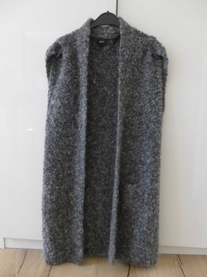Mexx Long Knitted Vest grey mixture fibre