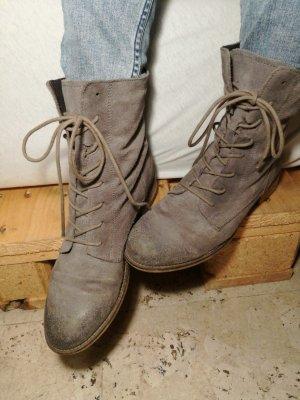 Graue Leder Boots Gr. 39