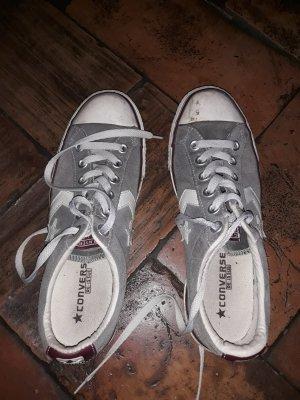 Graue Leder Chucks (Converse)