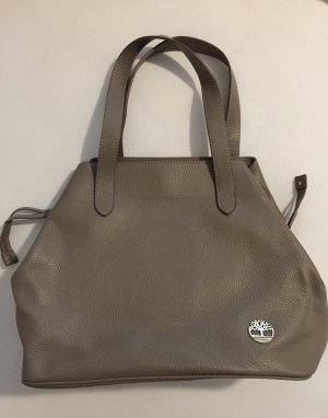 Graue Leder Tote Bag von Timberland