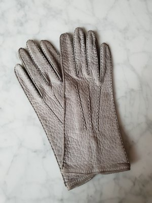 Leather Gloves light grey-grey