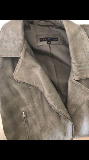 Guess Leather Jacket grey leather