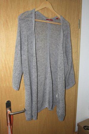s.Oliver Veste en tricot argenté coton