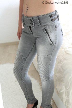 graue LTB Jeans verzierungen W24