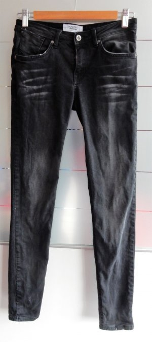 graue Mango Jeans, Gr. 36 Uptown, push up skinny