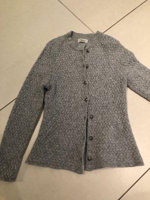 Veste en tricot argenté-gris clair