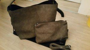 Graue  modische Handtasche für große Frauen