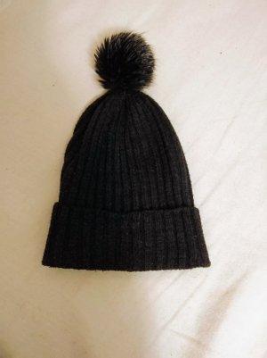 H&M Chapeau en tricot gris-gris foncé