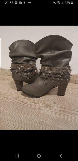 Botas bajas gris