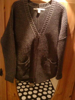 graue Oversized Strickjacke in M von Max Studio