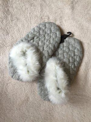 graue Pantoffeln von Hunkemöller, Größe 38/39