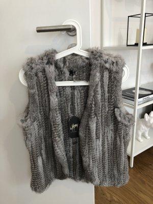 Gipsy Smanicato di pelliccia grigio chiaro-grigio