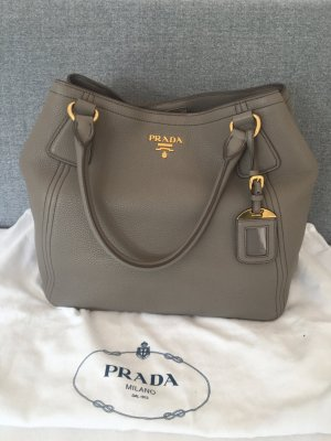 Prada Handbag grey-light grey leather