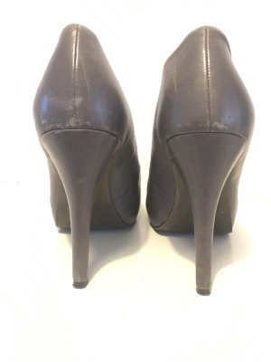 ASH Platform Pumps grey leather