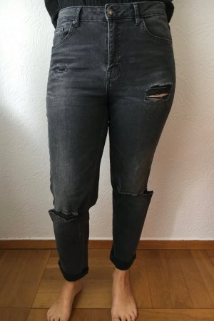 Graue Ripped Jeans