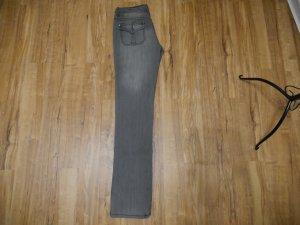 Amisu Jeans taille basse multicolore coton