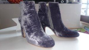 Zara Bottines à fermeture éclair argenté-gris