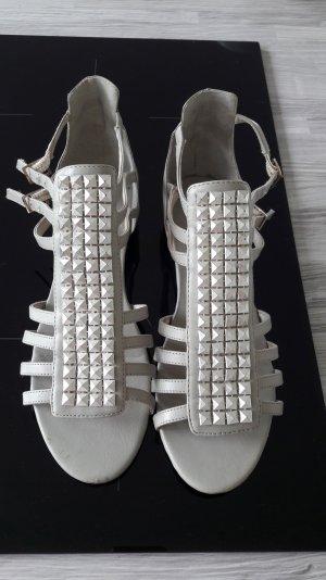 graue Sandalen mit Nieten von H&m