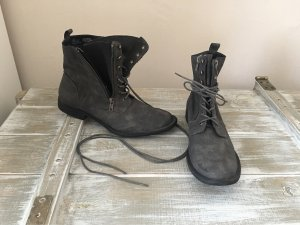 Just Fab Lace-up Boots grey