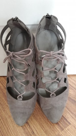 Lace Shoes silver-colored imitation leather