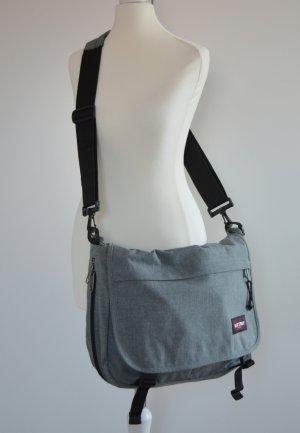 graue Schultertasche Schultasche authentic Büchertasche