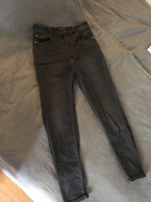 Pull & Bear Hoge taille jeans grijs