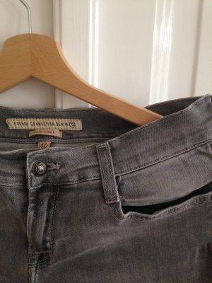 Graue Skinny - Jeans