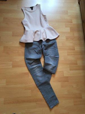 graue Skinny Jeans (H&M)