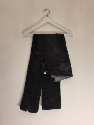 Graue Skinny Jeans im Bikerlook ❤️ NEU ❤️ KNACKPO