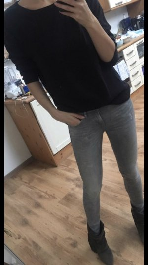 Graue Skinny Jeans von Max & Co in S, Vintage Röhrenjeans, Distressed Look