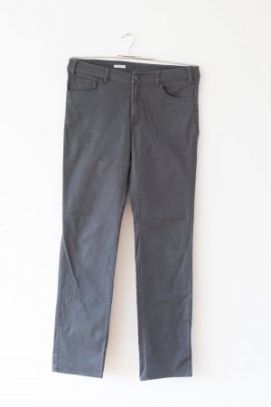 graue slim-fit Hose