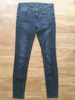 Graue Slim Fit Jeans von Zara