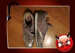 graue Sneakers in Gr. 37