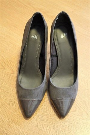 Graue Spitz-Pumps von H&M