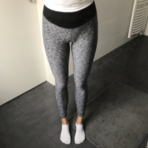 graue Sportleggings Fitness H&M